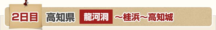1日目 高知県 龍河洞~桂浜~高知城