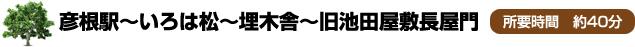 彦根駅~いろは松~埋木舎~旧池田屋敷長屋門