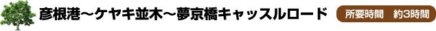 彦根港~ケヤキ並木~夢京橋キャッスルロード
