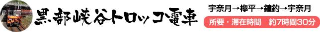 黒部峡谷トロッコ電車 宇奈月→欅平→鐘釣→宇奈月
