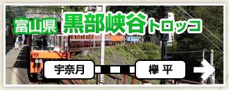 富山県 黒部峡谷トロッコ